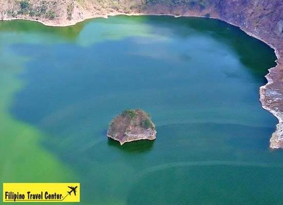 Birds eye view of Taal Lake