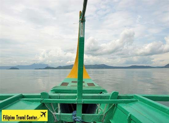A view from boat in Taal Lake