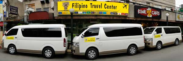 Van used for Taal Volcano Tour
