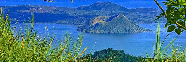 Serence view of Taal Volcano
