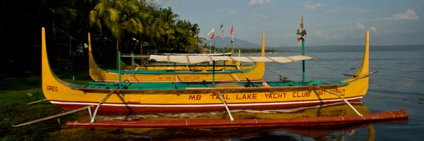 Boat along Taal Lake