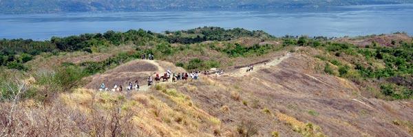 Trekking Taal Volcano