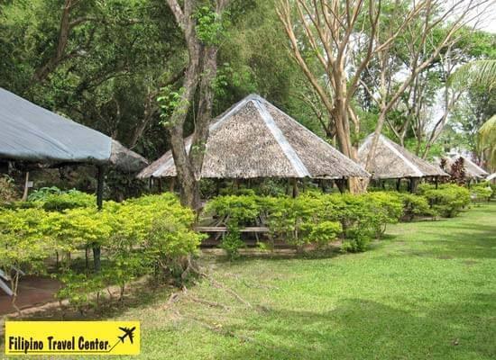 Nipa huts on Taal Lake Yatch Club