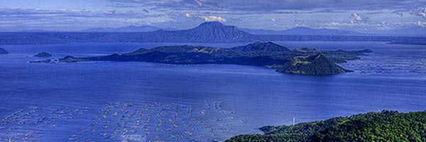 A view of Taal Volcano